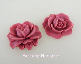 Sale 638-00-CA  4pcs Beautiful Vintage Style Rose- Grape