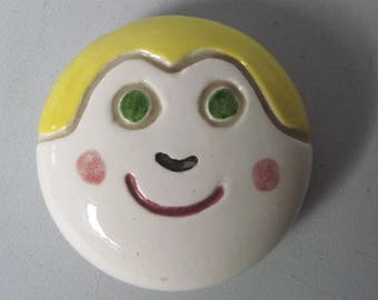 Vintage retro whimsy smiley face Paper weight