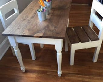farmhouse table and chairs sold separately