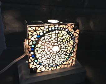 Snowflake Mosaic Box Light/Night Light