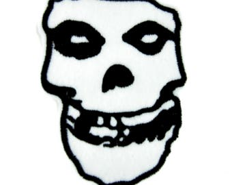 Horror Punk Rock Misfits Skull Patch Iron on Applique Clothing Psychobilly Danzig - YDS-PA-19-PATCH