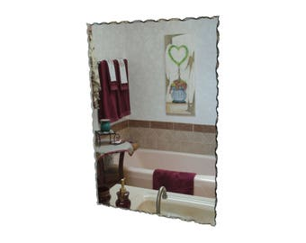 "24"" x 36"" Back Chipped Frameless Rectangle Mirror"