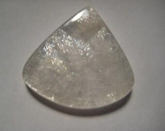 Hyalite Opal cab ..... rare ......   32 x 34 x 6 mm ....   B4118