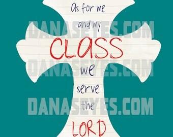 Printable teacher gift biblical Jesus cross download