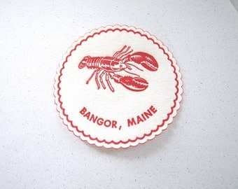 Lobster Bangor Maine Paper Coasters Pack of Ten Royal Catch-All