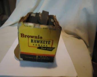 Vintage Eastman Kodak Brownie Hawkeye Flash Model Box Camera With Box, collectable