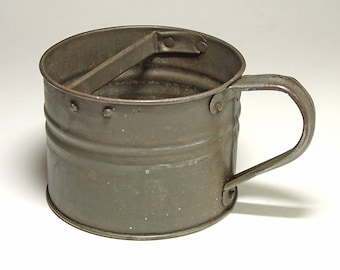 Vintage Large Tin Cup - circa late 1800's