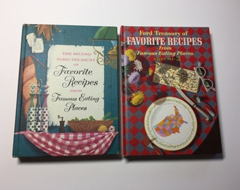 1950s Ford Treasury of Favorite Recipes from Famous Eating Places, Volume 2 and Volume 3