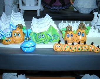 Price includes shipping You Paint it 5-Halloween Characters Ceramics Poured by CrazyOldLadyJC