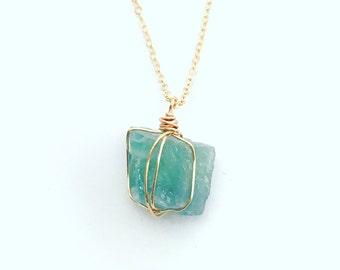 Fluorite necklace, Healing Gemstone Necklace, Spiritual Necklace