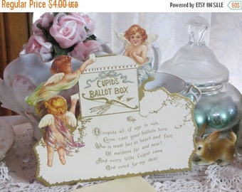 Store Closing SALE Vintage Reproduction Valentine Card-Stand Up-Angels-Cherubs