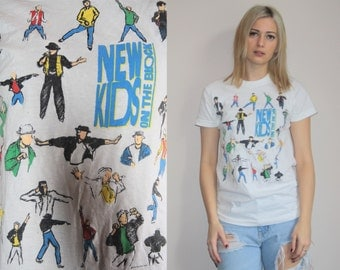 1990s Vintage New Kids On The Block Nkotb T Shirt  - Vintage New Kids On The Block  - 90s Nkotb Tee - W00491