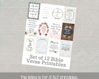 Set of 12 Bible Verse Printables....one for each month of the year.