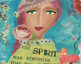 Original Art: Spirit - Original Mixed Media Painting