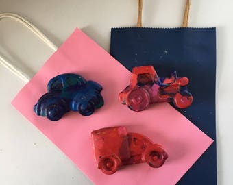 car  Crayons  - Truck Crayons -Kids Party Favor - Cars Party Favors - Kids  Birthday Favors
