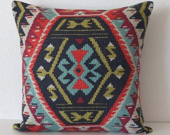 Boho Chic Tribal Colorful Southwestern Aztec Pillow Cover
