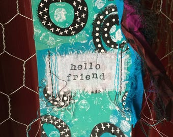Mixed Media Art Tag Altered Art Tag Planner Accessory Bookmark