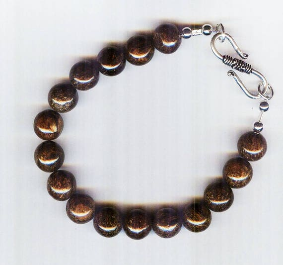 Mens / Unisex Bronzite Rounds Beaded Bracelet or Necklace
