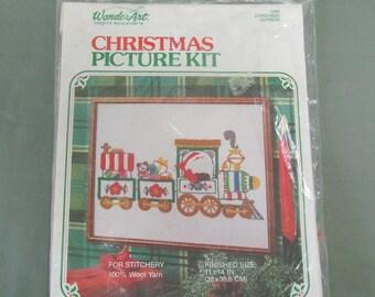 WonderArt Christmas Express Train Christmas Embroidery Craft Kit 5390