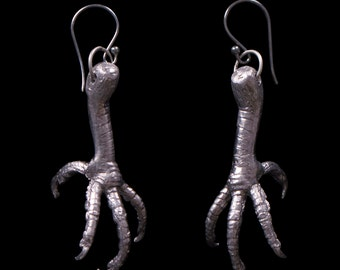 Pewter Dove Leg Earrings