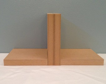Unfinished Wood Bookends