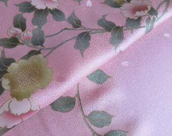 Japanese pure silk cloth from Kyoto Pink Cherry brossoms pattern No.39-12