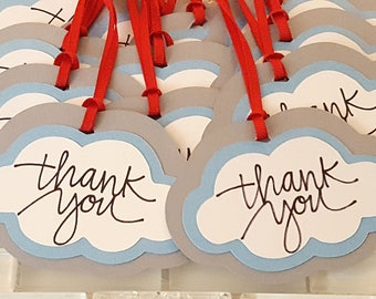 Little Cloud Thank You Tags or Party Favor Tags