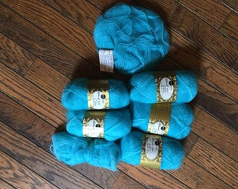 Vintage Sears Blend 131 Mohair Yarn 6+ Skeins Columbia Minerva