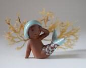 Vintage Mermaid Figurine C. Bloch Denmark Repair