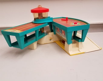 Fisher Price Play Family Airport with Airplane and Accessories