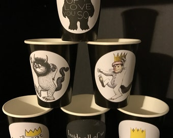 10 Where the Wild Things Are | Wild Beast | Max Birthday Party Cups 12 Ounce