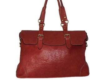 Johanna XXL Red Wine Leather Tote, Leather Tote Bag, Handbag, Shoulder Bag, Cross-body Bag, Market Bag, Travel Bag, Womens bag, 17in laptop