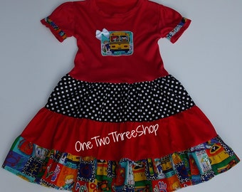 Custom Boutique Clothing Back to School girl Dress
