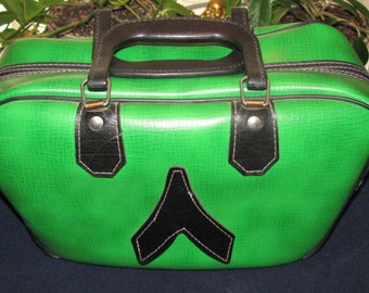Vintage Bowling Ball Bag..Rare GREEN...Classic, Retro, Hand Luggage, Sports Bag