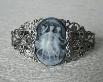 Triple Goddess Cuff Bracelet, wiccan jewelry pagan jewelry wicca jewelry goddess jewelry witch witchcraft pagan bracelet wiccan bracelet