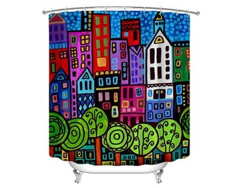 Nyc shower curtain | Etsy