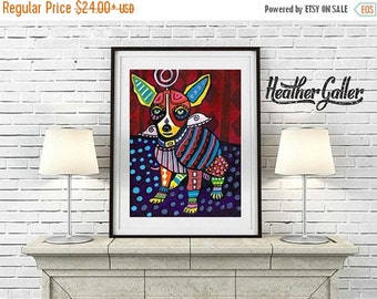 50% Off Today- Chihuahua Art  Art Print Poster by Heather GallerChihuahua Angel Memorial Gift (HG294)