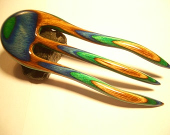 Safari Colorwood 3 Prong Squidward Style Hairfork