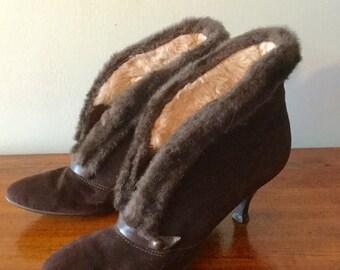 Vintage Brown Alaskans by Kickerinos, with faux fur + suede.