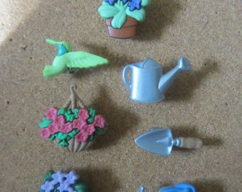 Cute Push Pins - Garden-Themed Push Pins