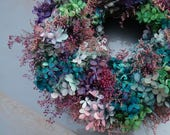 Preserved Hydrangea Wreath - Perfect For Any Season, Any Space