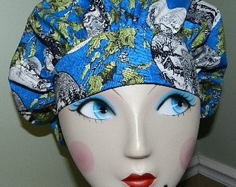Christmas  Home for the Holidays   Banded Bouffant Surgical Cap with Toggle