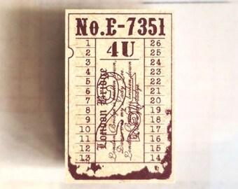 Tokyo Antique London Bridge Ticket stamp