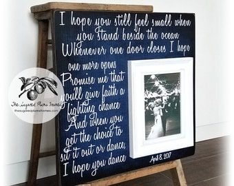 Father of the Bride Gift, Father Daughter Dance Picture Frame, I Hope You Dance, 16x16 The Sugared Plums Frames