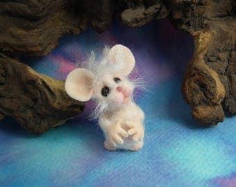 20% discount this weekend Furred JourneyMouse 'Cybil' OOAK Sculpt by Sculpture Artist Ann Galvin Mouse