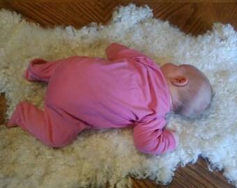 Baby Photo Prop / Gotland Lamb Wool Felted / Felted Piece / Prefelt / White Wool Locks