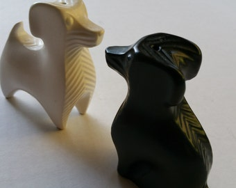 Doggies Jonathan Adler ceramic salt & pepper shakers modern
