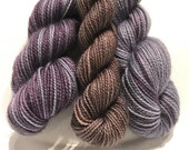 Blueberry Sour Polar Opposites with Contrast... Canon Hand Dyes Charles Self Striping Superwash Sock Yarn