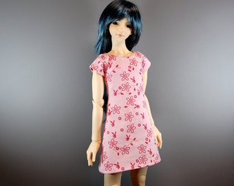 SD / SD13 Boy Pink Dress w/ Pink Flowers & Bunnies for BJD, Ball Jointed Dolls
