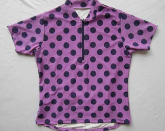 Women's cycling jersey with UV protection Dot Print short sleeve
